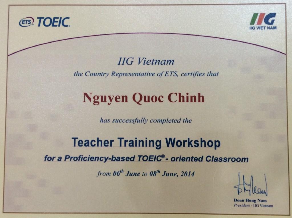 Chung Chi Toeic Trainer IIG