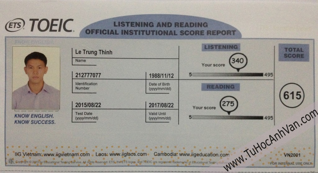 Trung Thinh 615 Toeic