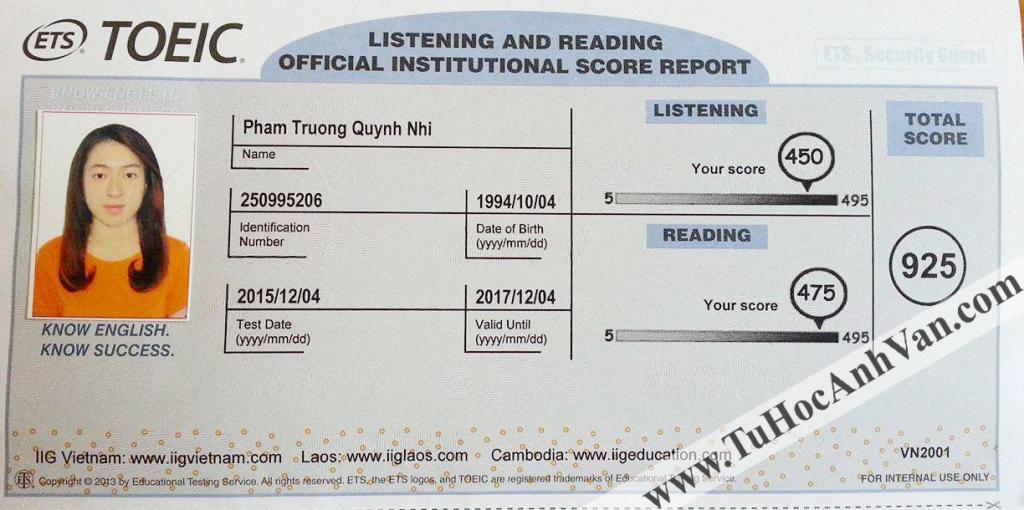 Pham Truong Quynh Nhi - 925